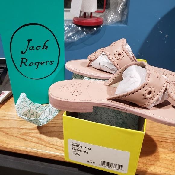 Jack Rogers Natural Jacks Flat